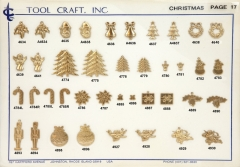 Brass Christmas Charms 17.1