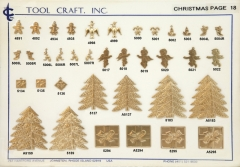 Brass Christmas Charms 18