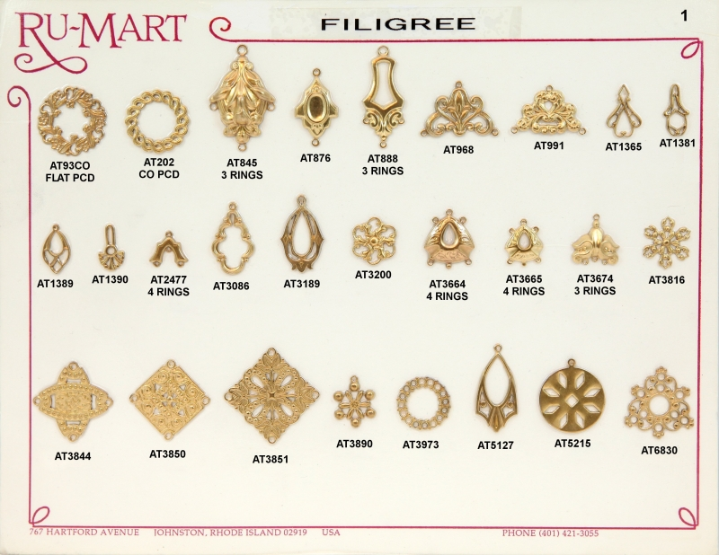 Victorian Filigree Stampings 1
