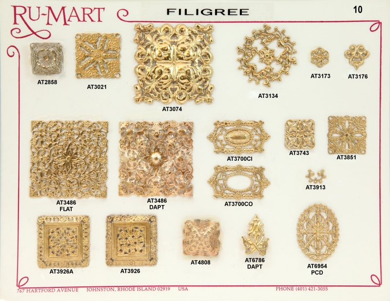 Victorian Filigree Stampings 10
