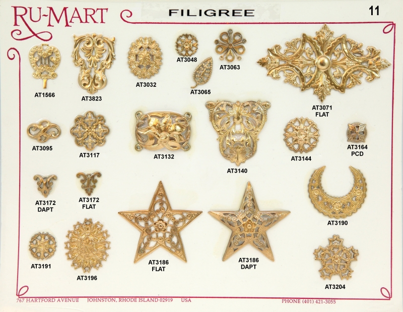 Victorian Filigree Stampings 11