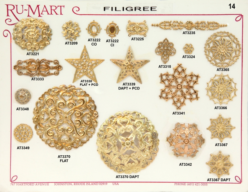 Victorian Filigree Stampings 14