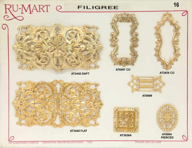 Victorian Filigree Stampings 16