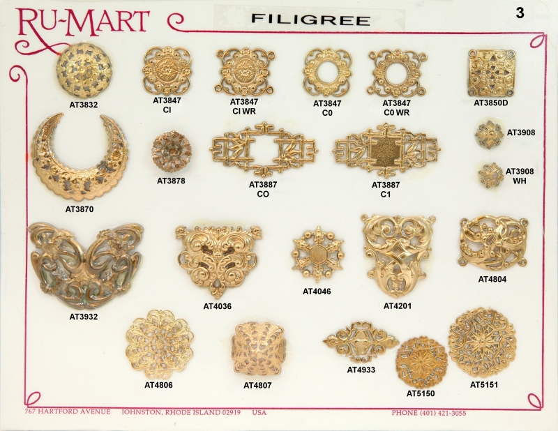 Victorian Filigree Stampings 3