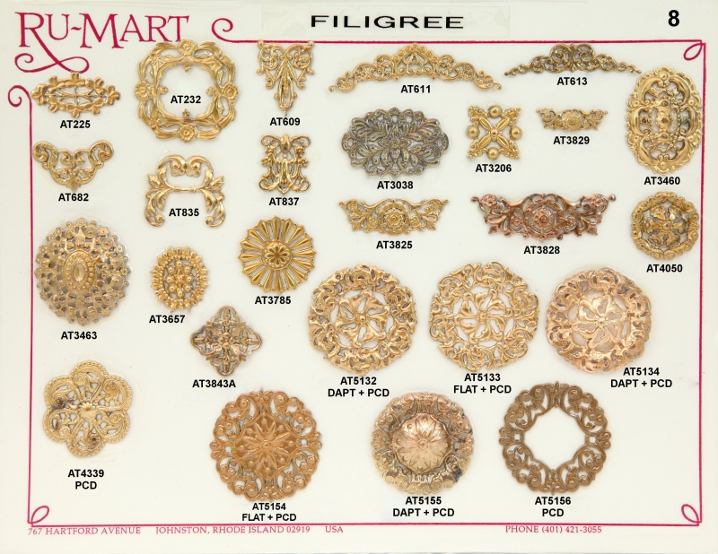 Victorian Filigree Stampings 8
