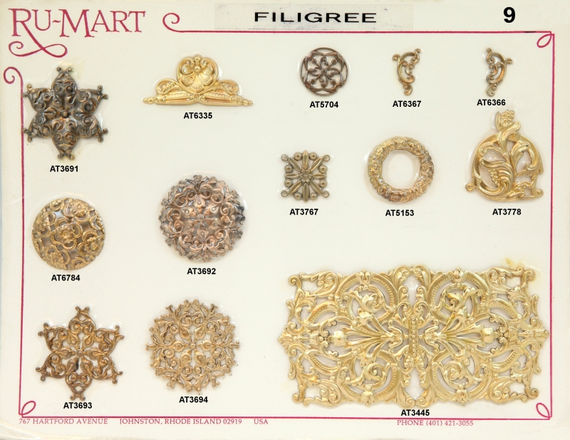 Victorian Filigree Stampings 9