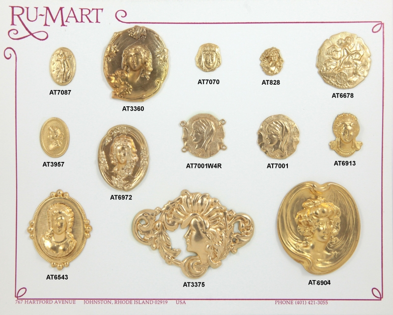 Victorian Women Face Stampings