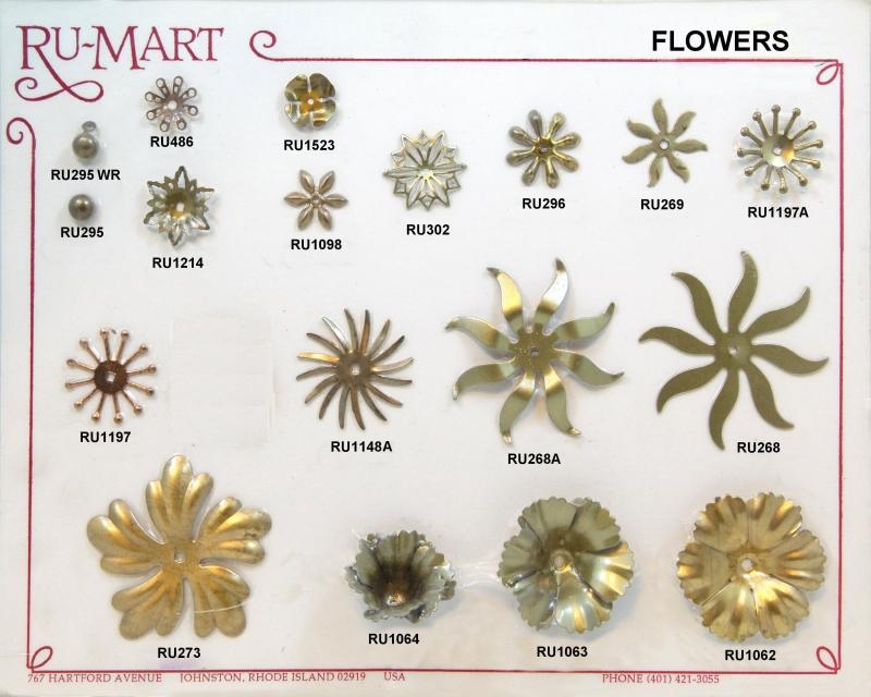 Floral Rivet Components