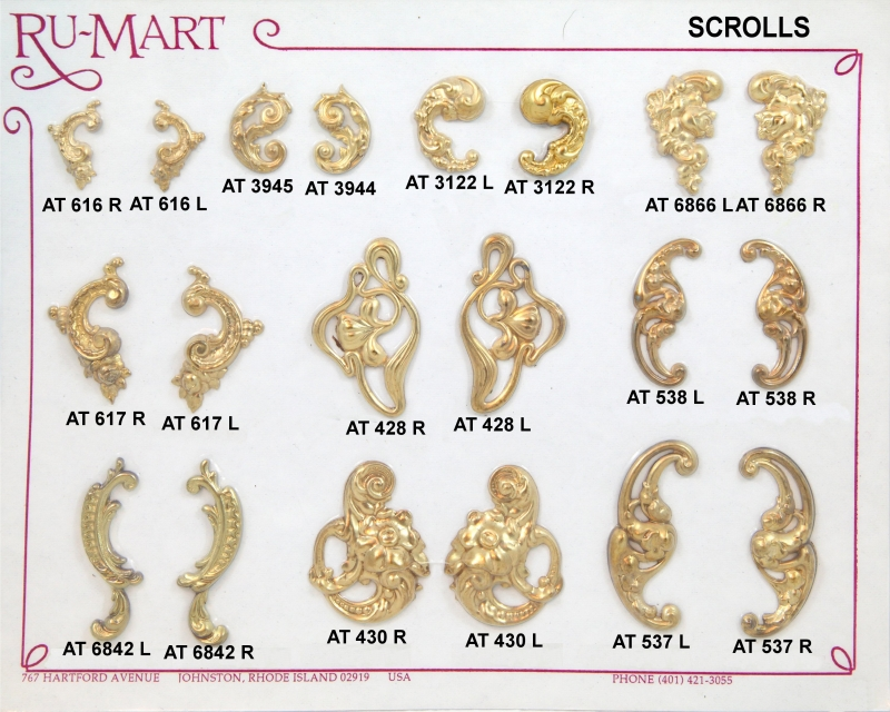 Victorian Scroll Stampings