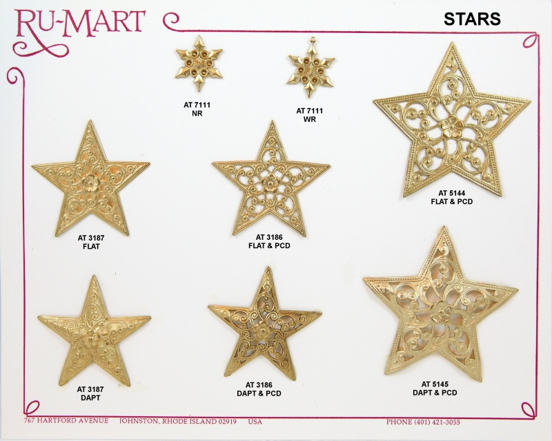 Stars Solid & Pierced