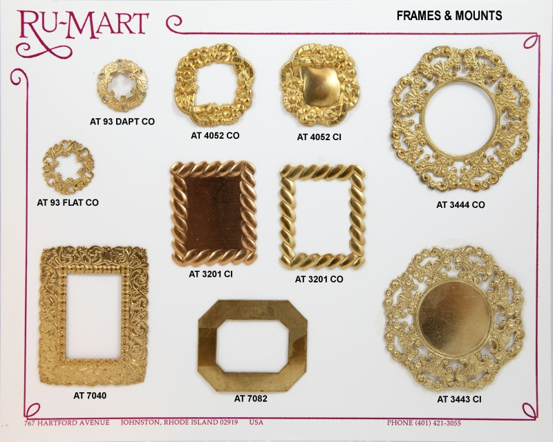 Decorative brass frames and mounts all shapes and sizes | ToolCraft ...